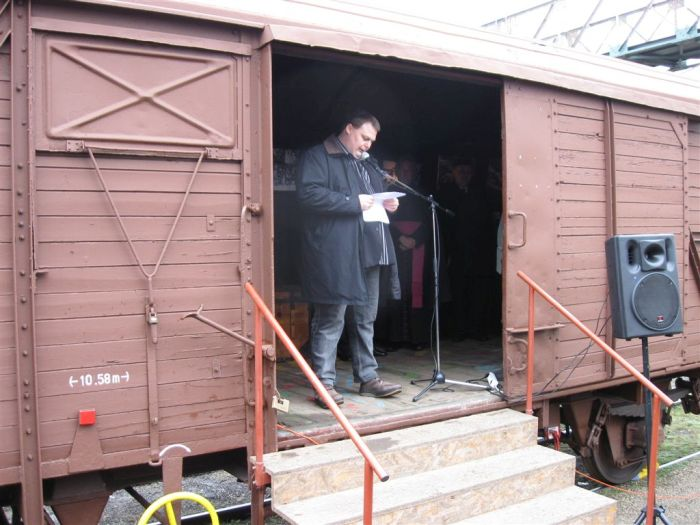Vagonkiállítás-megnyitó Zalaegerszegen