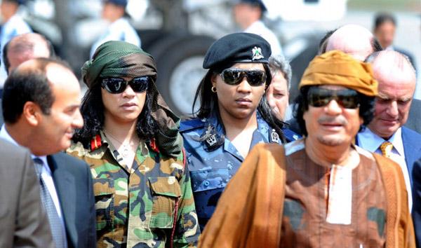 Kadhafi és a női testőrség