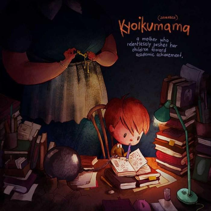 Kyoikumama (japán): az anya, aki folyamatosan tanulásra kényszeríti gyermekét -a kép forrása: Boredpanda