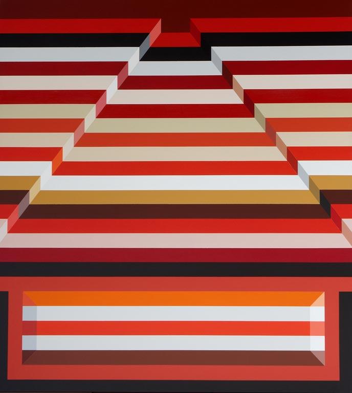 Csíkos piros piramis, 2010