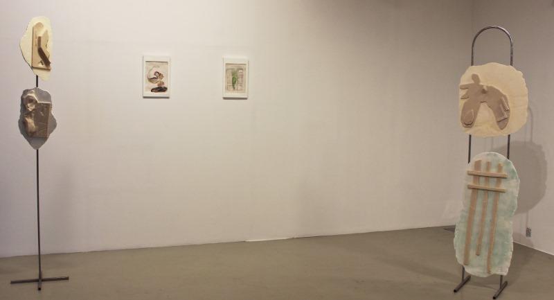 A kiállítás részlete Ulbert Ádám alkotásaival