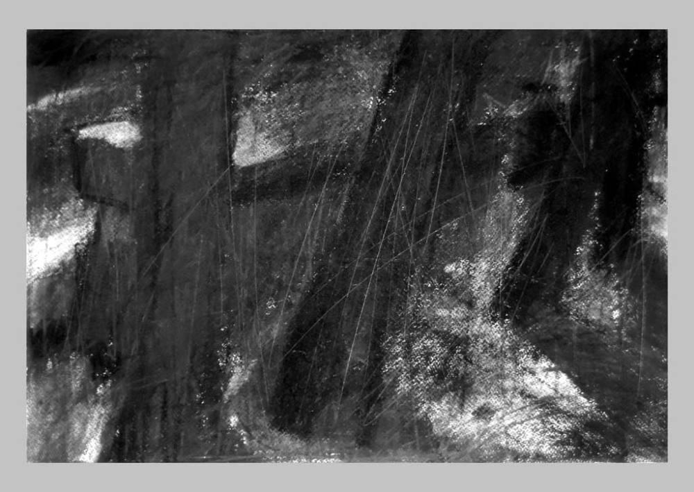 Arles, Les Alyscamps, szén, papir ,32x46,6 cm. 2014