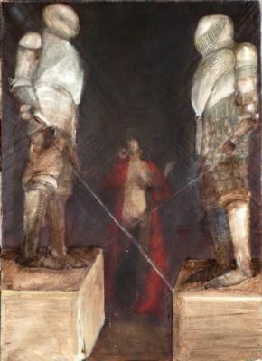 Páncélosok, 100 x 70, olaj vászon, 1985