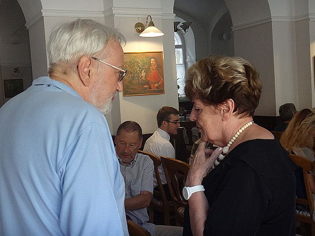 Gyémánt László és Gyürey Vera a díjátadón
