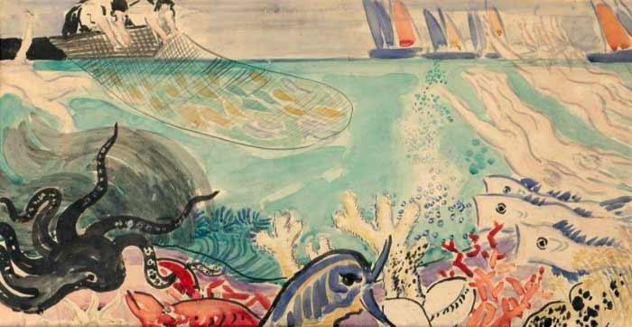 Vaszary János: Tengeri világ (vázlat, 1926-28) Forrás: Szépművészeti Múzeum