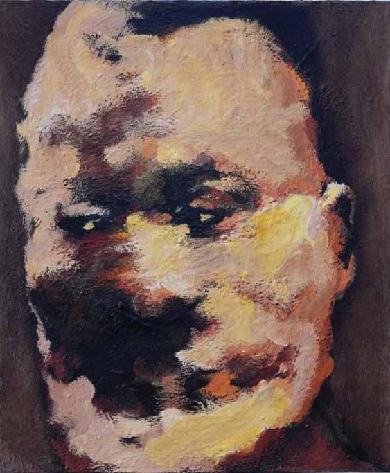 Egyszerű ember II. 2015, 60x50, olaj, vászon