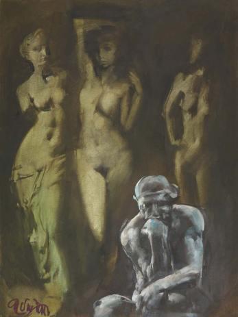 Art for sale, Gyémánt (80x60 cm, olaj, vászon, 2016)