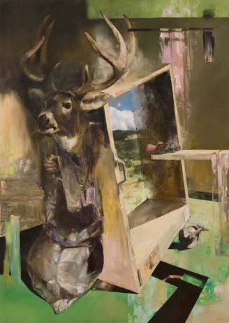Incze: Eladva (170x120 cm, olaj, vászon, 2016)