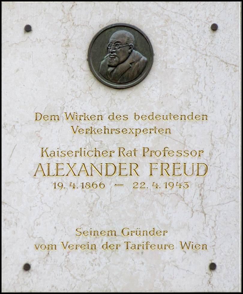 Freud professzor bécsi emléktáblája