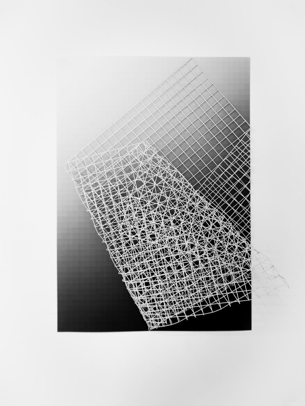 Kútvölgyi-Szabó Áron: In between grids. installáció. részlet. 2016