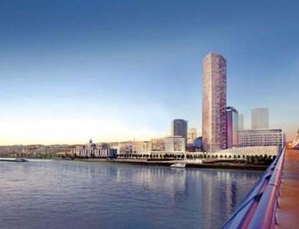 A Duna-parton épül meg azelső felhőkarcoló
