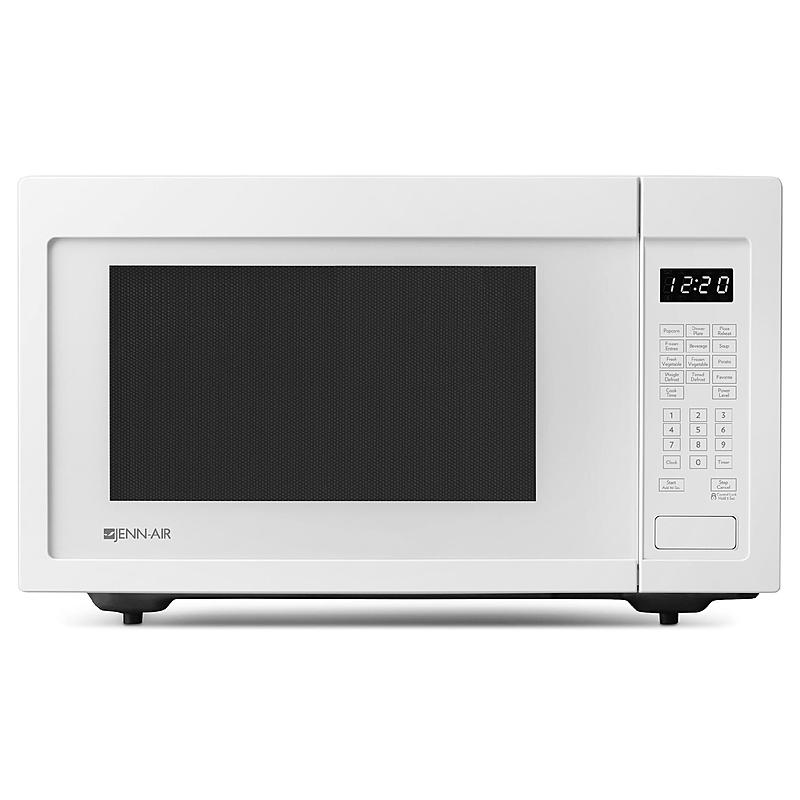 discontinued floating glass white frost white jenn air 1 6 cu ft countertop microwave 1200 w cooking built in capability w optional trim kit