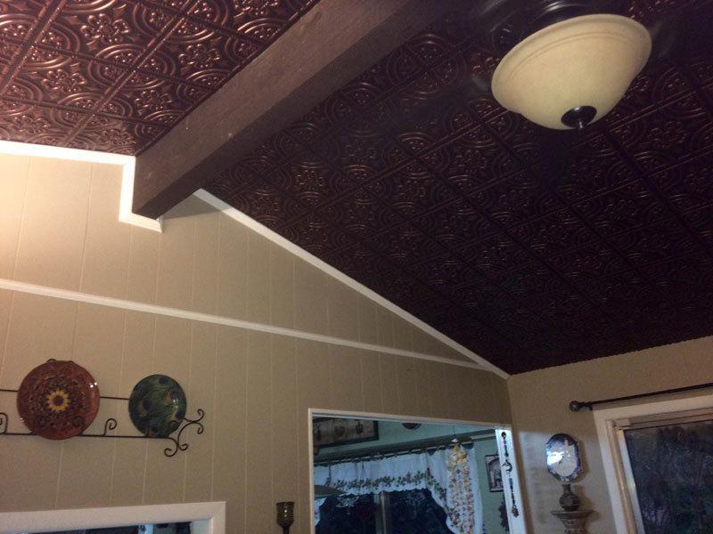Glue Up Ceiling Tiles In Foyer