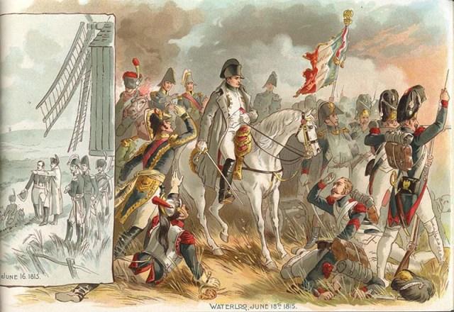 Interior illustration from cigarette manufacturer's: The Napoleon Album. Richmond : Allen & Ginter, [188-?]