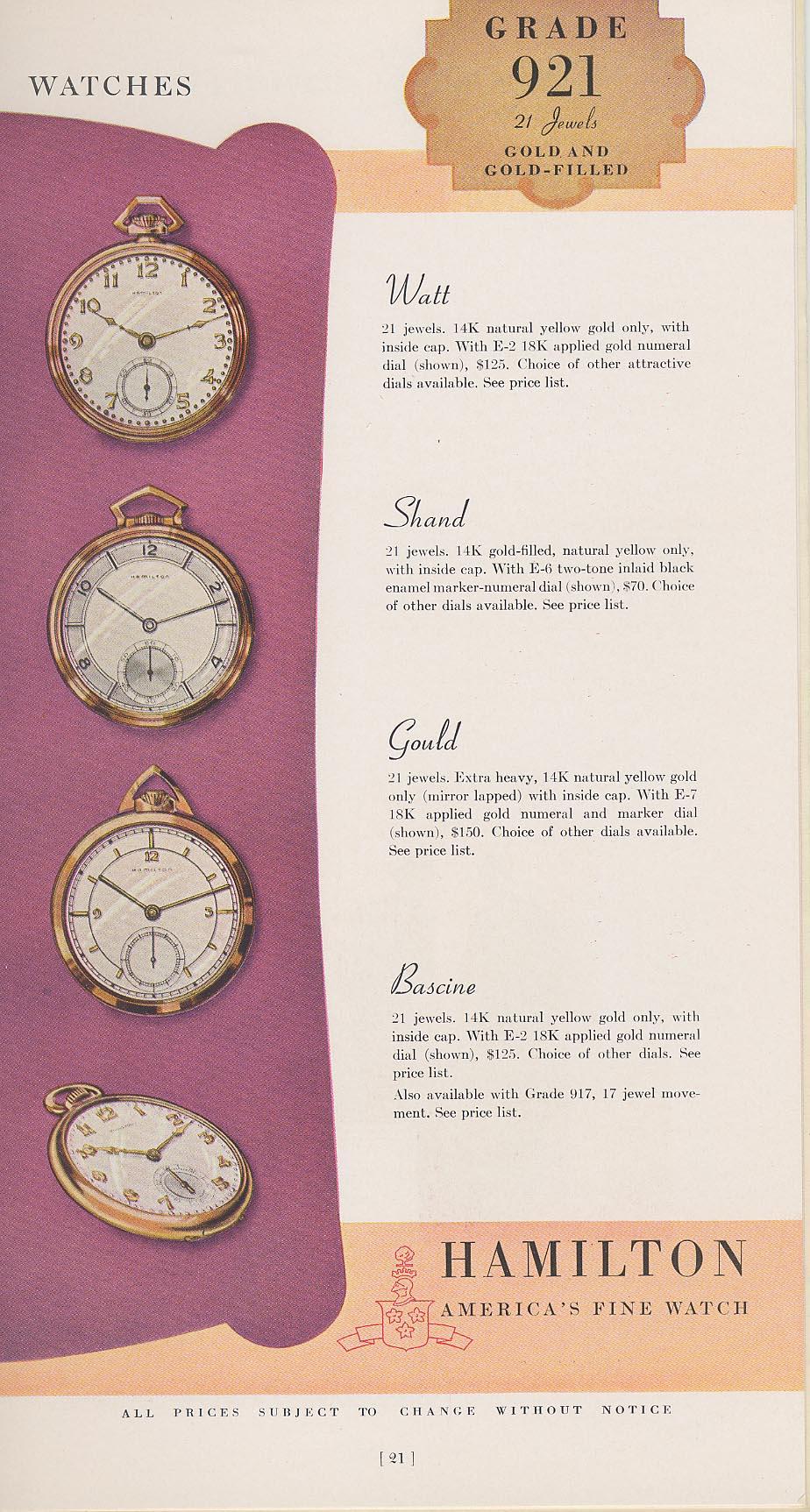 Hamilton Catalog