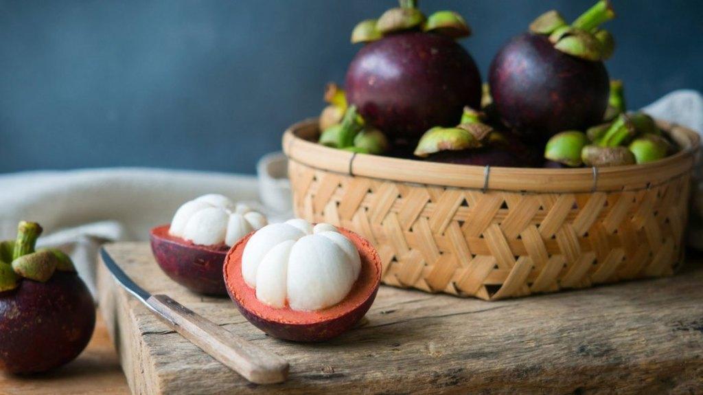 mangosteen in a basket
