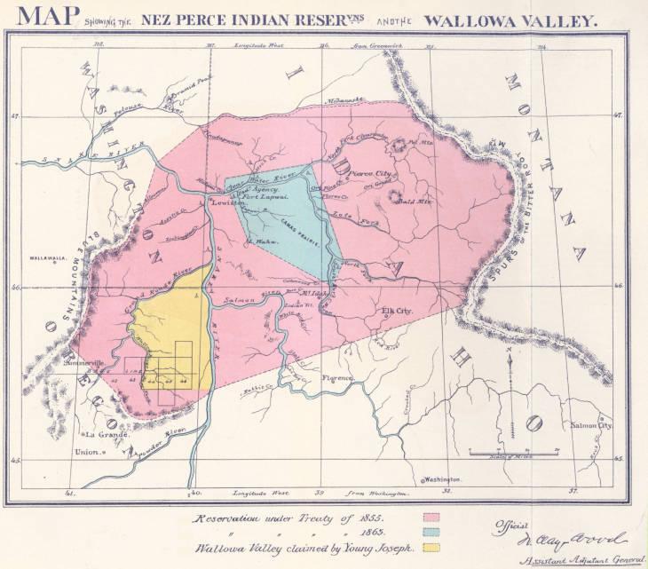 Nez. Perce Reservations: 1855, 1863, 1873