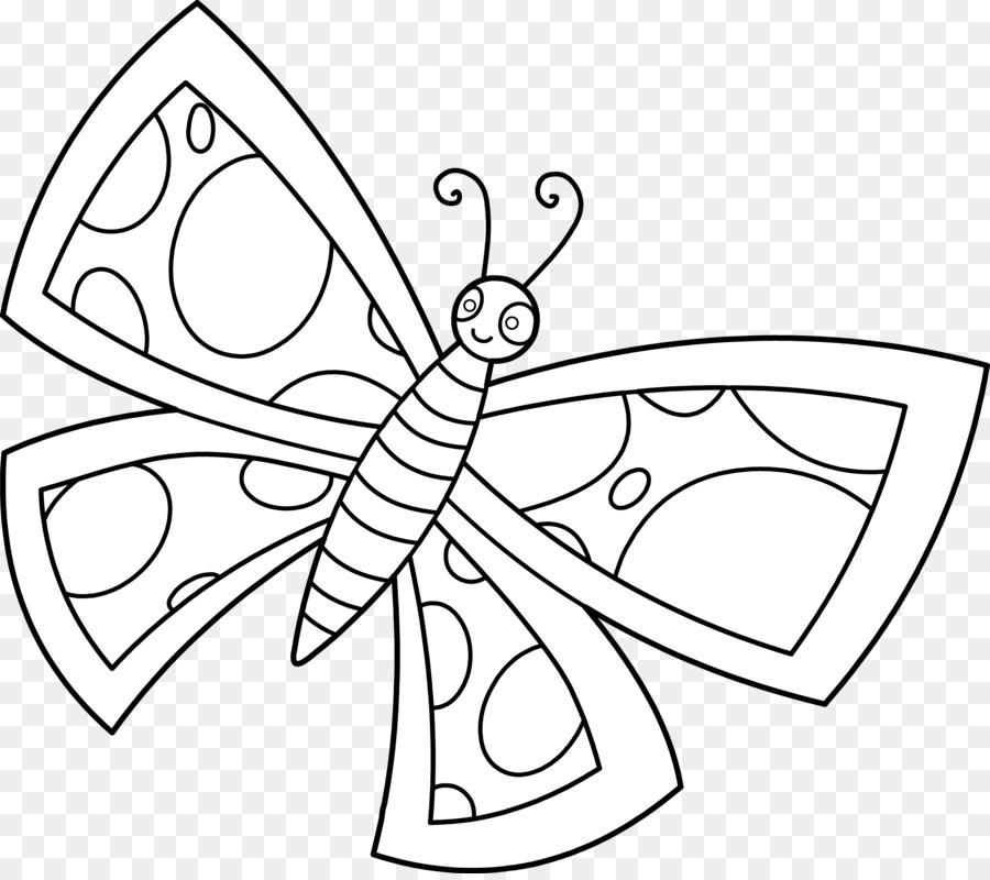 Butterfly Black And White Clipart Butterfly Drawing White Transparent Clip Art