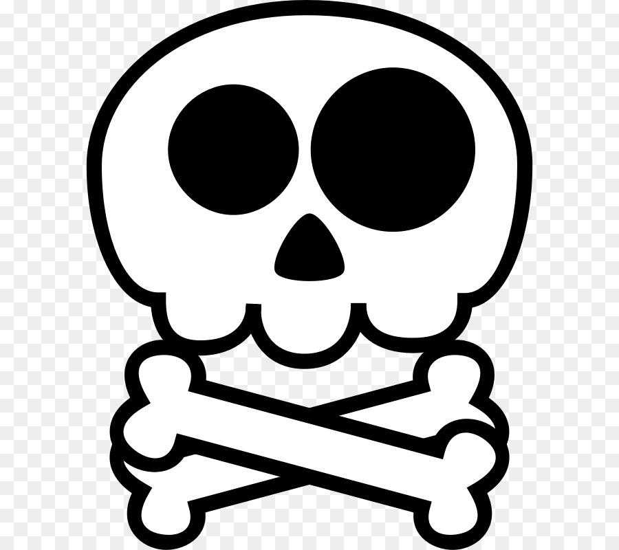 Skull And Crossbones Clipart Skull Drawing Cartoon Transparent Clip Art