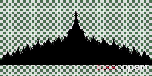 Siluet Candi Prambanan Png