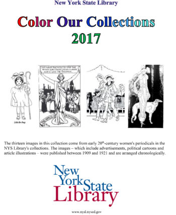New York State Library Coloring Book