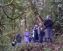 volunteer naturalist on field trip