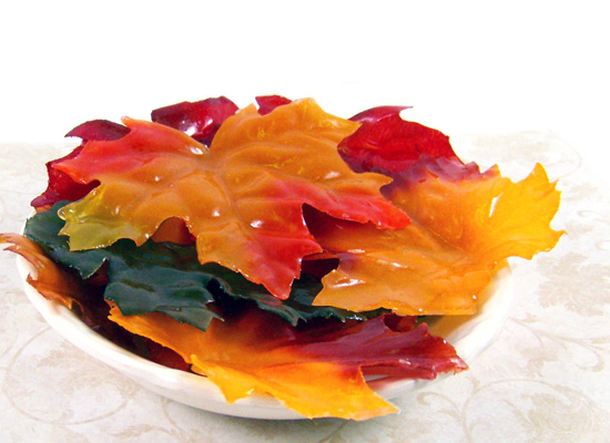 silk soap leaves - fun for fall