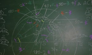 math drawing on chalkboard