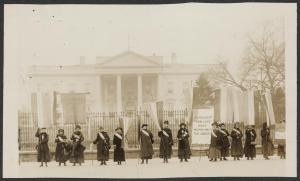 Penn[sylvania] on the picket line-- 1917.