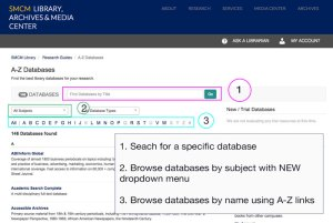 New database page layout