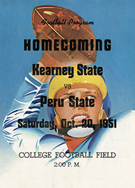 Homecoming 1951 Football Program Cover