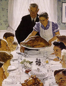 Norman Rockwell Painting - Freedom from Want