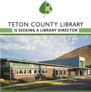 Brochure cover with photo of Teton County Library
