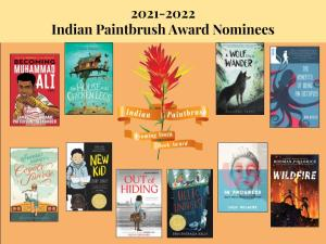 Poster with book cover images for Indian Paintbrush award nominees