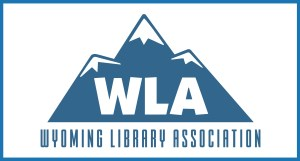 Wyoming Library Association mountains logo
