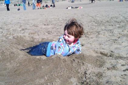 A little treasure buried in sand.