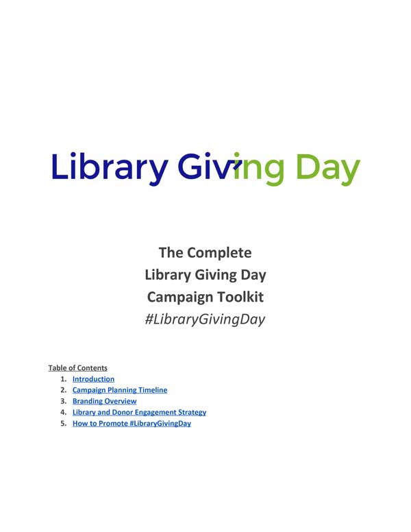 Library Giving Day Toolkit