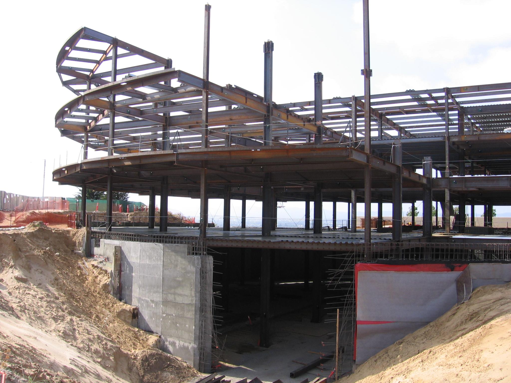 Library basement construction