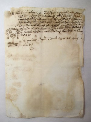 1768 Italian paper manuscript after repair_recto