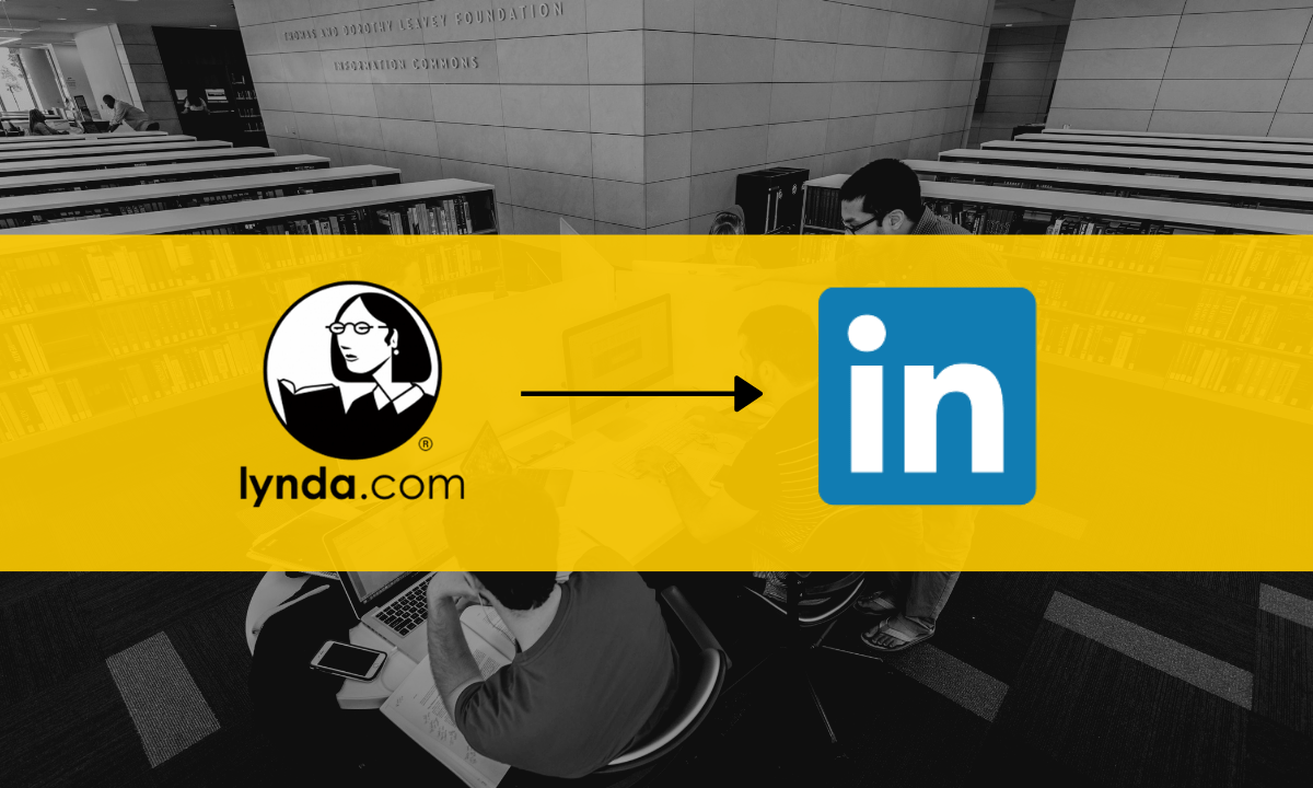 Lynda to LinkedIn header