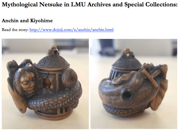 Mythological netsuke from Archives and Special Collections