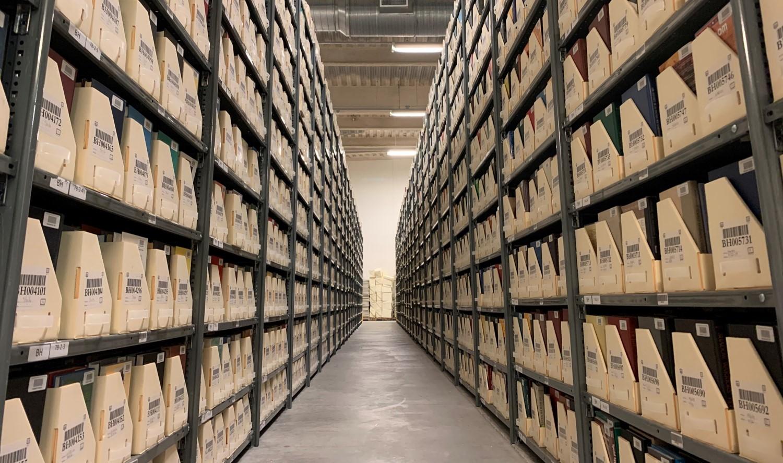 lmu library basement stacks