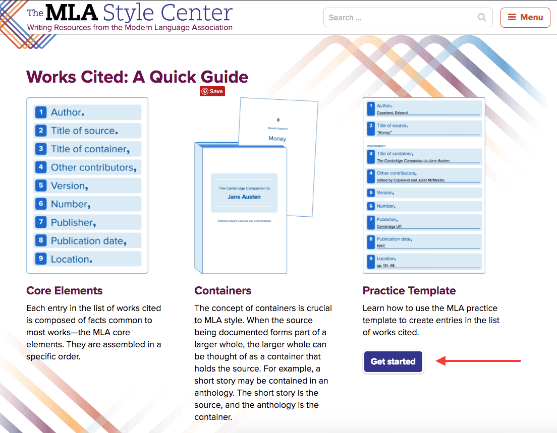 Help With Citatations The Mla Online The Library Of