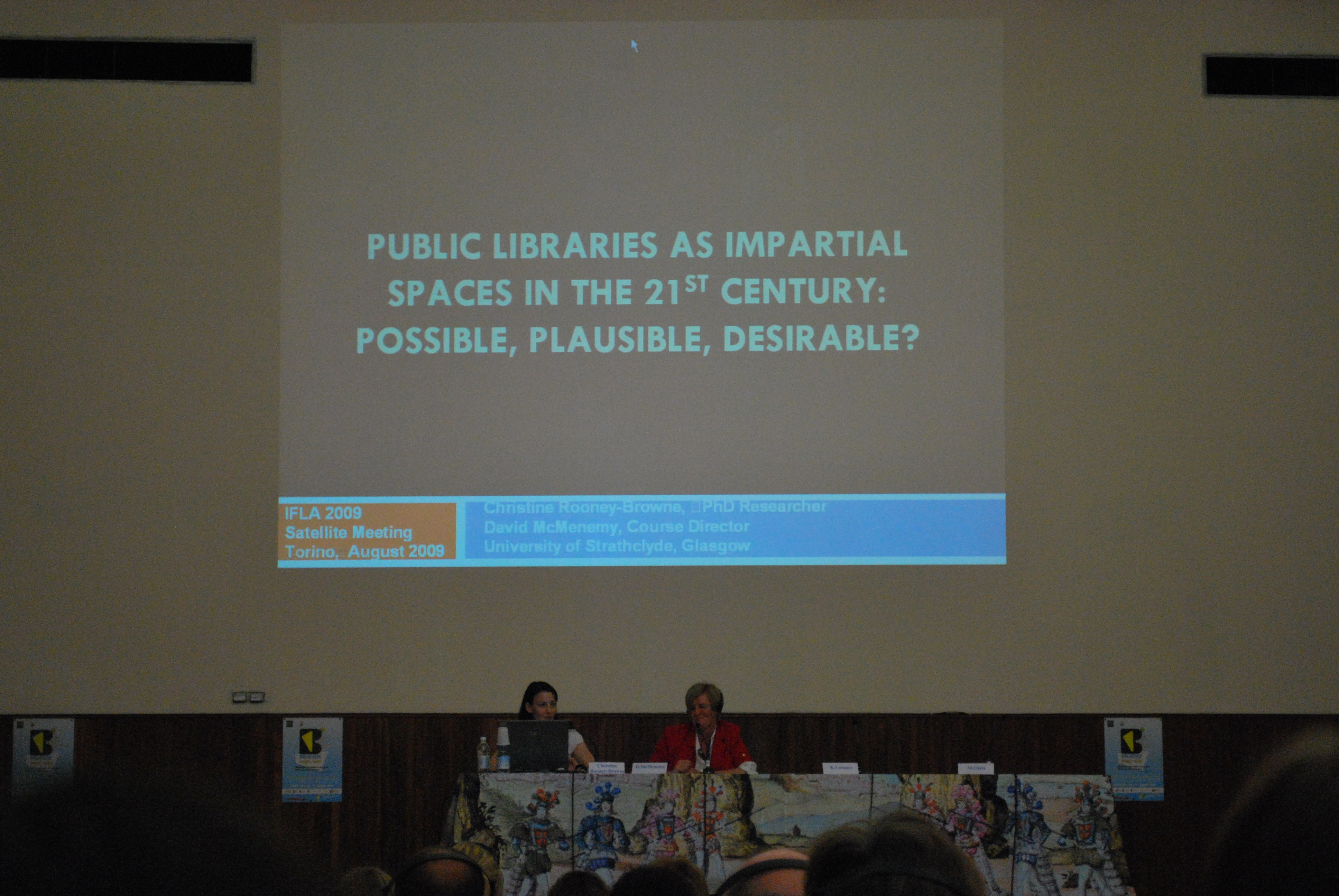 Speaking at the IFLA pre-conference: Libraries as Space & Place