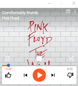 """Google Music album cover of Pink Floyd's """"The Wall"""""""