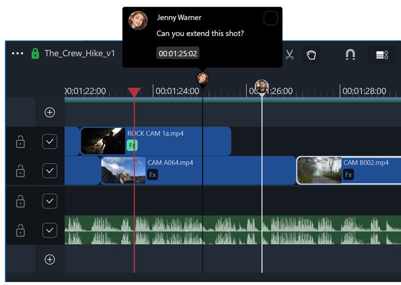 Collaborative video editing, with comments and changes pushed in realtime.