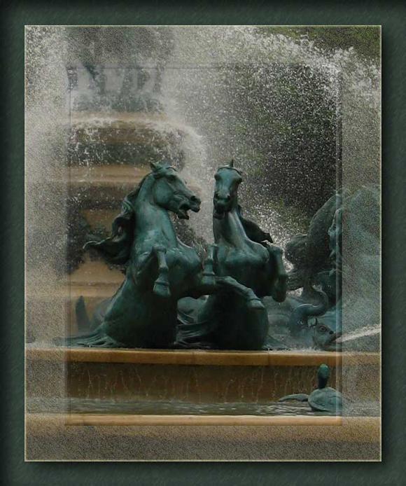 La fontaine chevaux