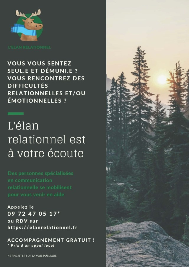 Affiche de l'association Élan relationnel