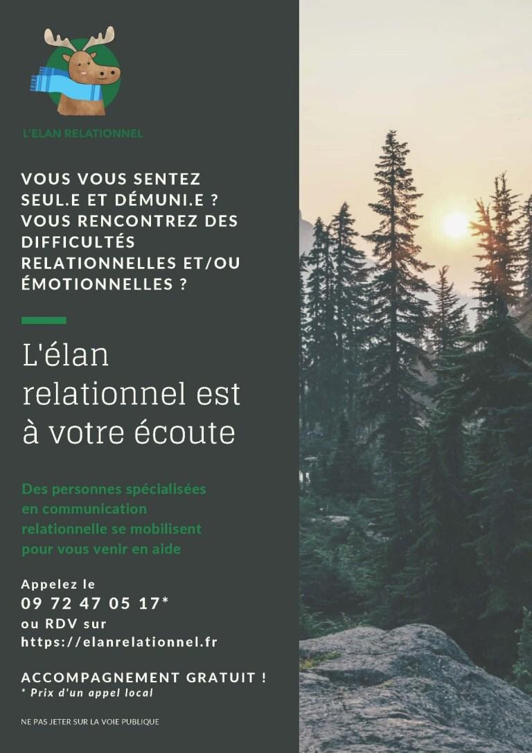 Affiche de l'association Élan relationnel