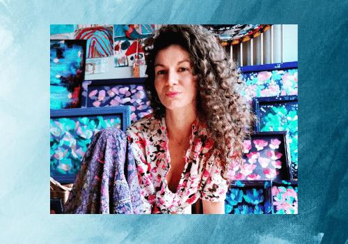 Une artiste peintre, Hélène Battaini
